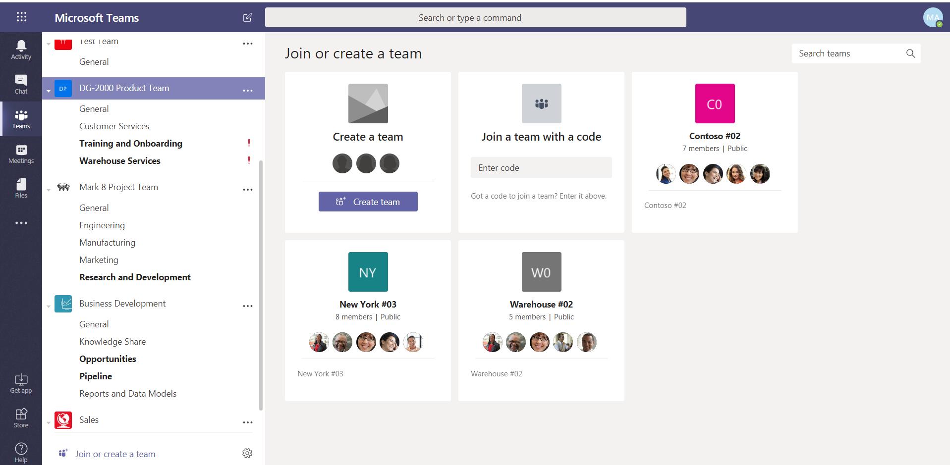 Join Microsoft Team using code